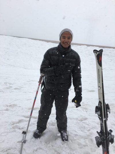 Découverte du ski pour Diego