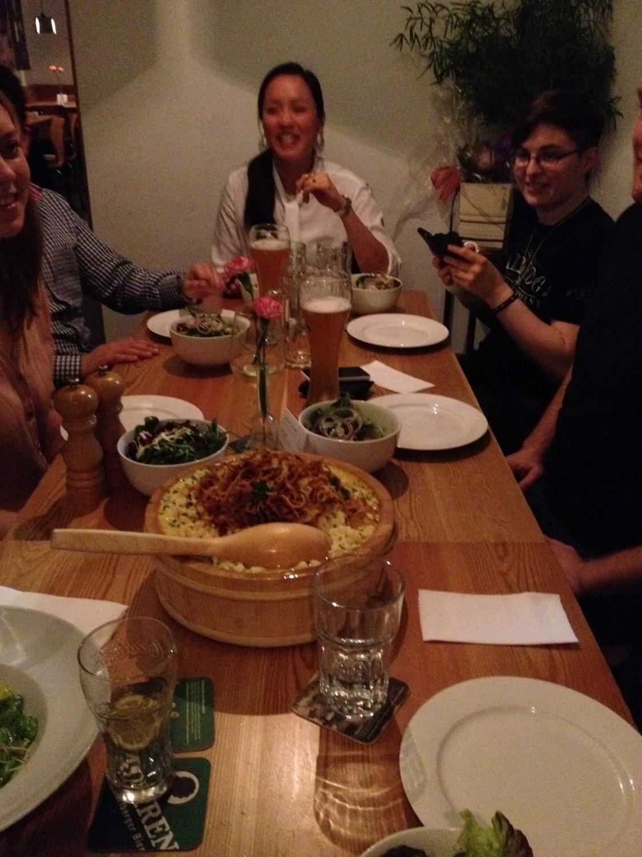 Eric bei seiner Gastfamilie in Österreich